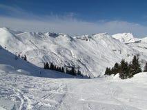 Alta zona alpina del pattino Fotografie Stock Libere da Diritti