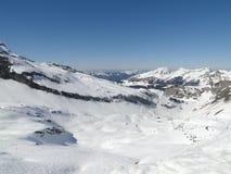 Alta zona alpina del pattino nelle alpi francesi Fotografia Stock Libera da Diritti