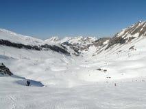 Alta zona alpina del pattino nelle alpi francesi Fotografie Stock