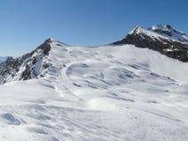 Alta zona alpina del pattino nelle alpi francesi Fotografia Stock