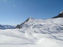 Alta zona alpina del pattino nelle alpi francesi Fotografie Stock Libere da Diritti