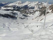 Alta zona alpina del pattino nelle alpi francesi Immagini Stock Libere da Diritti