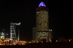 Alta zona Doha di aumento della baia ad ovest Fotografia Stock