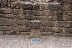 Altaar aan Wraakgodin in Roman Amphitheatre in Chester royalty-vrije stock afbeelding