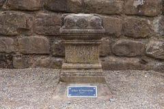Altaar aan Wraakgodin in Roman Amphitheatre in Chester royalty-vrije stock foto's