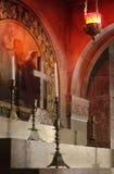 Altaar bij de Kerk van het Heilige Grafgewelf Stock Foto's
