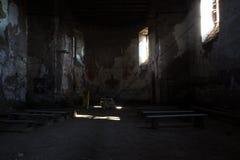 Altaar in de kerk van Heilige Matthew in de Tsjechische Republiek van Jedlova stock afbeeldingen
