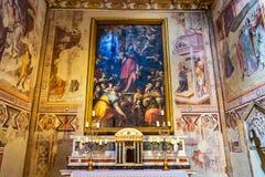 Altaar Mary Painting Spanish Chapel Santa Maria Novella Florence Italy stock afbeelding