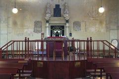 Altaar in synagoge Stock Foto