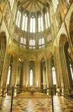 Altaar van de abdij van Mont St. Michel Stock Foto