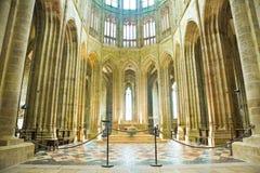 Altaar van de abdij van Mont St. Michel Royalty-vrije Stock Foto
