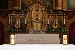 Altaar van de Capuchin Kerk van Bolzano, Italië Stock Foto's
