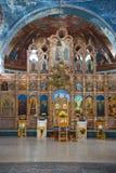 Altaar van de Veronderstellingskathedraal Myshkin, Yaroslavl-gebied royalty-vrije stock foto's