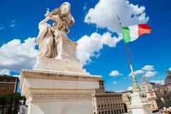 Altaar van della Patria van Altare van het Vaderland Nationaal Monument aan Victor Emmanuel II in Italië royalty-vrije stock fotografie