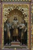 Altaar van Heiligen Stephen, Ladislaus en Emeric in de kathedraal van Zagreb royalty-vrije stock foto