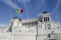 Altaar van het Vaderland, Vittoriano, Rome Stock Afbeeldingen