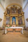 Altaar van Riaza kerk stock foto