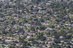 Altadena Kalifornia antena Zdjęcie Royalty Free