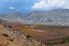 altai日持续山夏天 美好的高地横向 俄国 库存照片