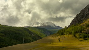 altai日持续山夏天 美好的高地横向 俄罗斯西伯利亚 Timelapse 影视素材