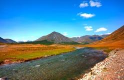 altai美丽的高地横向山 库存图片
