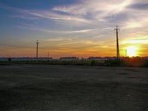 altai śródpolny Russia wschód słońca Obrazy Royalty Free