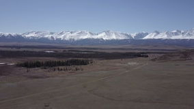 Altai Berge Schöne Hochlandlandschaft Russland sibirien Flug auf quadcopter stock video
