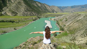 Altai. Chui-Oozy.l. Russia. Altai Republic. Ongudai district. Chui-Oozy Stock Photography