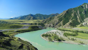 Altai. Chui-Oozy.l. Russia. Altai Republic. Ongudai district. Chui-Oozy Royalty Free Stock Photos