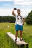 Altai dans la montagne sur le vélo Images libres de droits