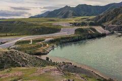 Altai, fusione Chui e Katun Fotografia Stock Libera da Diritti