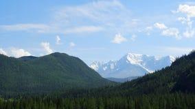 altai Geleiras Aktru da montanha Cume do norte-Chuya Imagem de Stock Royalty Free