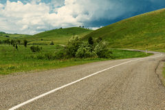 Altai hills road Stock Photos