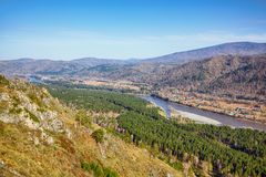 Altai landscape with river Katun Royalty Free Stock Images