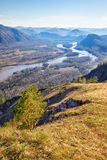 Altai landscape with river Katun Royalty Free Stock Image