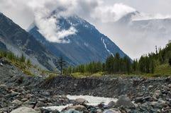 Altai, montagne di Altai, Akkem River Valley Immagini Stock Libere da Diritti