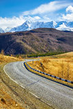 Altai mountain federal road M52 Stock Images