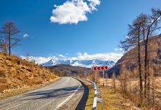 Altai mountain federal road M52 Royalty Free Stock Photography