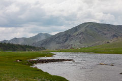 Altai mountains. Beautiful highland landscape. Mongolia.  Royalty Free Stock Photography