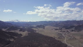 Altai mountains. Beautiful highland landscape. Russia. Siberia. Flight on quadcopter stock footage