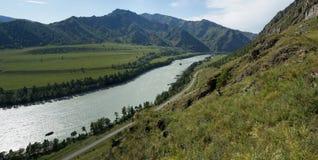 Altai mountains, Katun river Stock Image