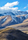 Altai mountains in Kurai area with North Chuisky Ridge on backgr Stock Photos