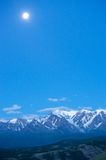 Altai mountains in Kurai area with North Chuisky Ridge on background. Royalty Free Stock Photos