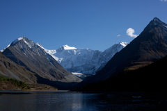 Altai mountains and lake Royalty Free Stock Photos
