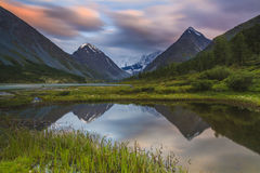 Altai Mountains and lake Stock Images