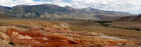 Altai mountains. Mars Valley. Altai mountains. Valley Mars letom.Panorama Stock Images