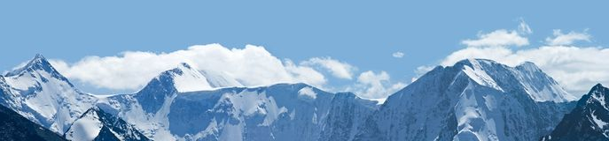 Altai mountains panorama Royalty Free Stock Photo