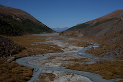 Altai mountains and river Royalty Free Stock Photography