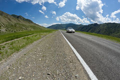 Altai mountains road Stock Photos
