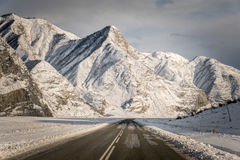 Altai Mountains, road, winter Royalty Free Stock Image